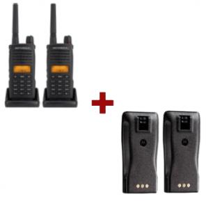 2-pack Motorola XT-660 portofoons + 2 batterijen
