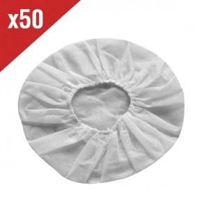 Witte wegwerpbare beschermers voor headset oorkussens