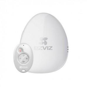 EZVIZ alarmkit met bewegingsdetector die verbinding maakt via de wifi