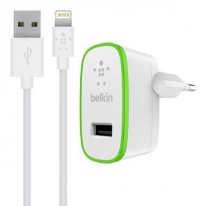 Belkin BoostUp Oplader 2,4A + Lightning USB Kabel