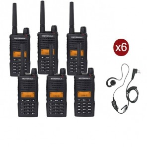 Motorola XT660D 6-PACK + 6 PTT Headset