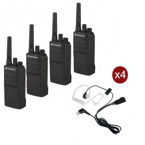 Motorola XT420 4-pack met 4 bodyguard headsets