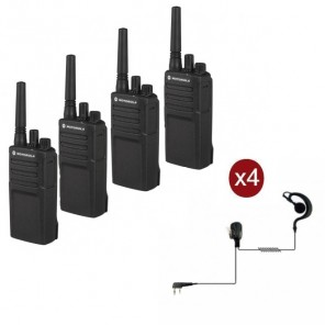 Motorola XT420 4-pack + 4 PTT Headsets (1)