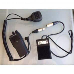 PTT Pedaal en Speaker Microfoon voor Motorola 2-pin portofoons (1)