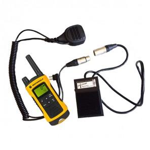 PTT Pedaal en Speaker Microfoon voor Motorola 1-Pin Portofoons (1)