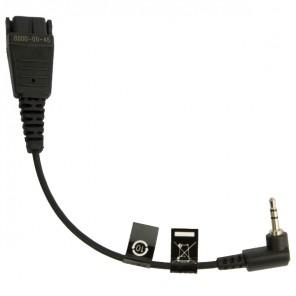 Jabra QD Headset Kabel met 2.5 Aansluiting