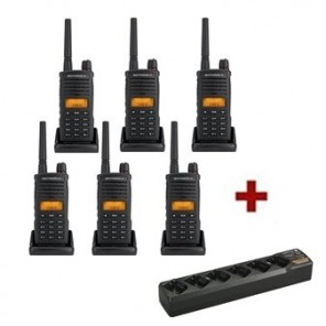 Talkies-walkies Motorola XT660D - Pack de 6 - Chargeurs Inclus