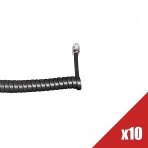 Lot de 10 câbles téléphoniques enroulés noir (2)