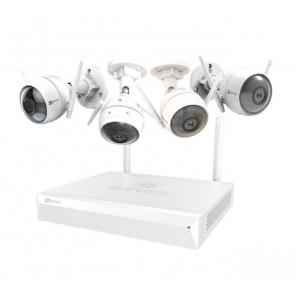 Pack de 4 caméras de sécurité IP Ezviz ezWireless