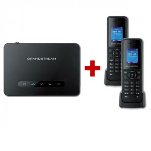 Pack Duo : Base DECT Grandstream DP750 + 2 combinés DP720