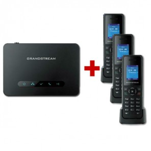 Grandstream DP750 DECT Base + 3 DP720 Handset