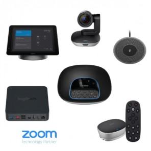 Kit avec Logitech SmartDock, Group, Microphone et Boîtier d'Extension