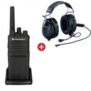 Talkie-Walkie Motorola XT420 + Casque 3M Peltor Flex