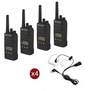 Pack de 4 Motorola XT460 avec 4 Kits Bodyguard
