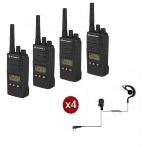 Pack de 4 Motorola XT460 avec Oreillettes PTT & Mallette de transport