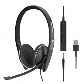 Micro-casque filaire Sennheiser SC 165 - USB et Jack 3.5