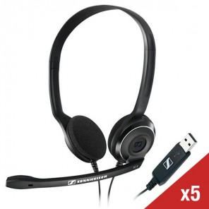 Pack de 5 casques USB Sennheiser PC 8