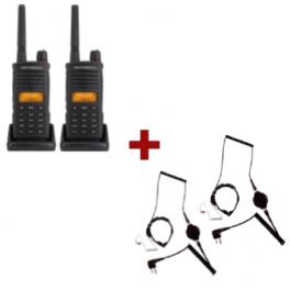 2-pack Motorola XT-660 + 2x keelmicrofoon