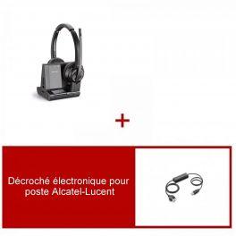 Plantronics Savi 8220 Office Duo-headsetpakket voor Alcatel