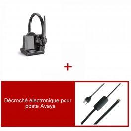 Plantronics Savi 8220 Office Duo-headsetpakket voor Avaya