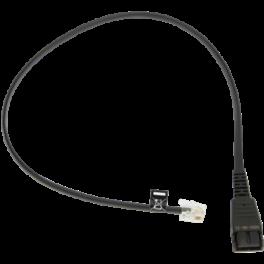 Jabra QD to RJ10 Bottom Cable for Link 180 and Avaya 9600/1600