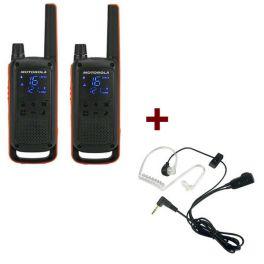 Motorola Talkabout T82 + 2x Bodyguard Oortjes