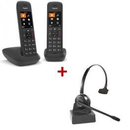 Pack Gigaset C575 Duo + HW10 draadloze headset