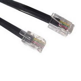RJ9 Naar RJ9 Kabel 50cm Zwart