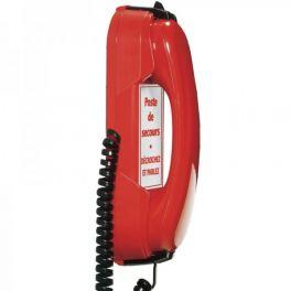 Depaepe HD2000 IP Rood - noodtelefoon met 3 nummers