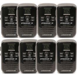 Dynascan 1D Walkie Talkie 8-pack (zwart) (1)