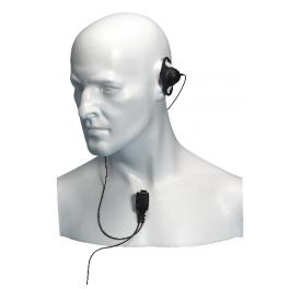 Entel D-vormig oortje met microfoon voor de HT serie