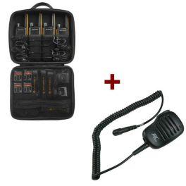 Motorola Talkabout T82 Extreme 4-Pack + 4x Speakermicrofoon