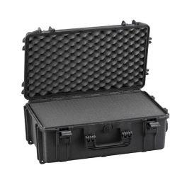 MAX520S Zwart - Robuuste schuimkoffer