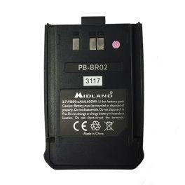 Vervangende batterij voor Midland BR02 walkie talkies