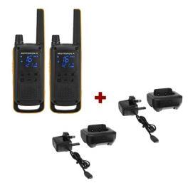 Motorola Talkabout T82 + 2x Bureauladers