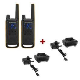 Motorola Talkabout T82 Extreme + 2x Bureauladers