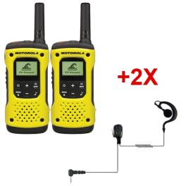 Motorola T92 + 2 PTT headsets