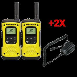 Motorola T92 Duo + 2 Speaker mics