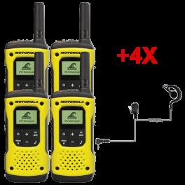 Motorola T92 Quad + 4 PTT headsets
