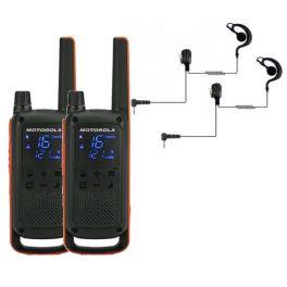 Motorola Talkabout T82 + 2x Oorschelp Headset