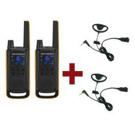 Motorola Talkabout T82 Extreme + 2x D-Vormige oorstukken