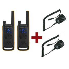 Motorola Talkabout T82 Extreme + 2x Speakermicrofoon