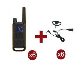 Motorola Talkabout T82 Extreme 6-Pack + 6x D-Vormige oorstukken
