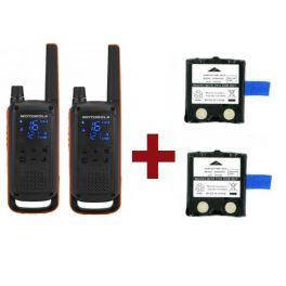 Motorola Talkabout T82 + 2x Reserve Batterijen