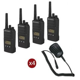 Motorola XT460 4-pack + 4 Speakermics