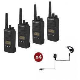 Motorola XT460 4-pack + 4 Headsets + Draagkoffer