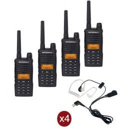 Quad-pack Motorola XT-660 + 4 bodyguard headsets