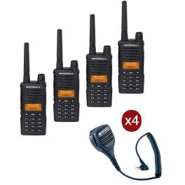 Motorola XT-660 4-pack + 4 speakermicrofoons