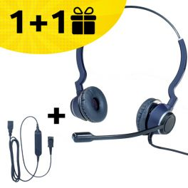Koop een Cleyver headset en ontvang een gratis kabel