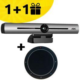 Buya  Cleyver 4K Ultra-HD videoconferencing bar, get a  Cleyver CC60 Speakephone